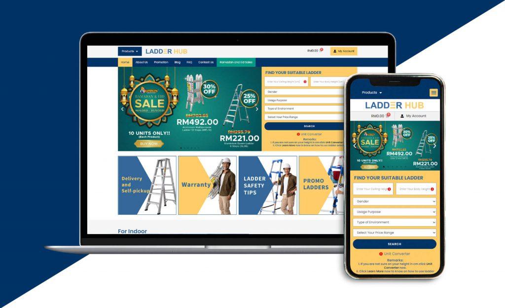 ISENZ Creative - Ladderhub Website